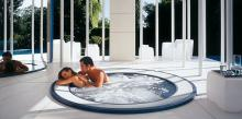 Built-in Jacuzzi® spa ALIMIA in winter garden