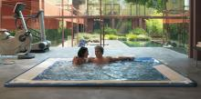 Built-in Jacuzzi® spa VIRGINIA at the gym