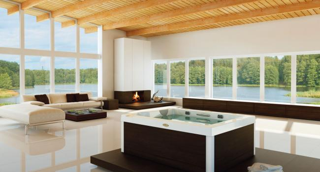 Jacuzzi® spa UNIQUE in the living room